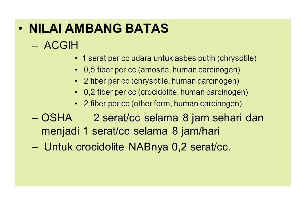 NILAI AMBANG BATAS ACGIH