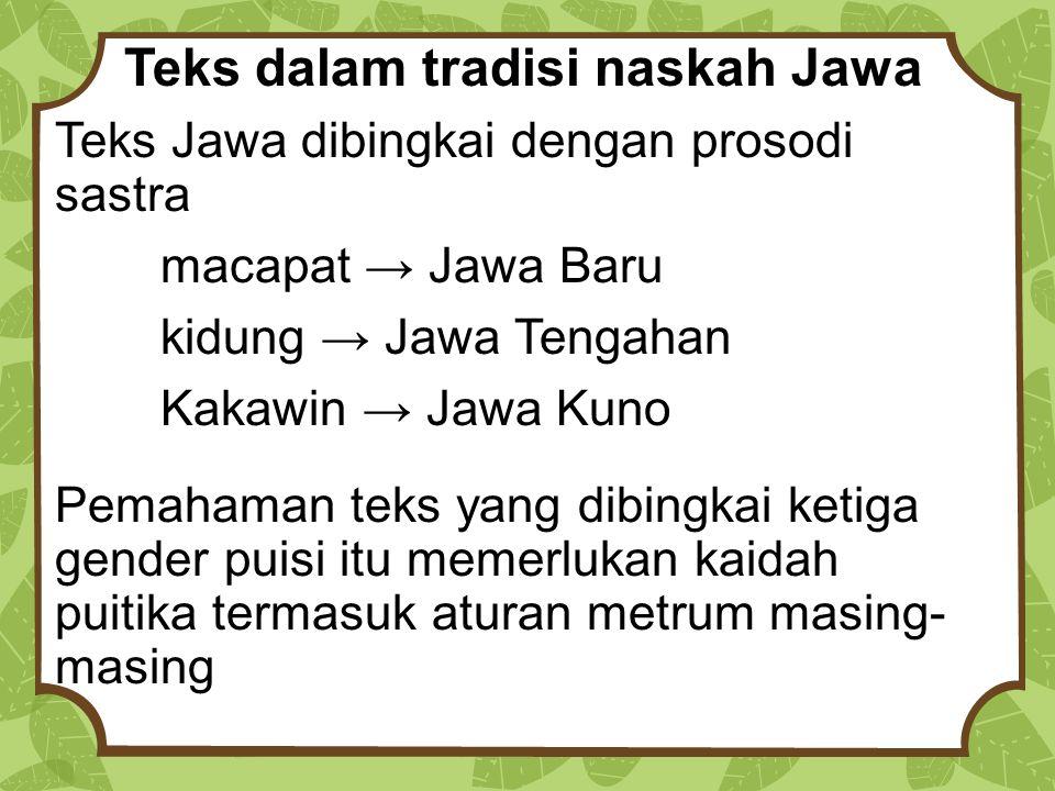 Teks dalam tradisi naskah Jawa