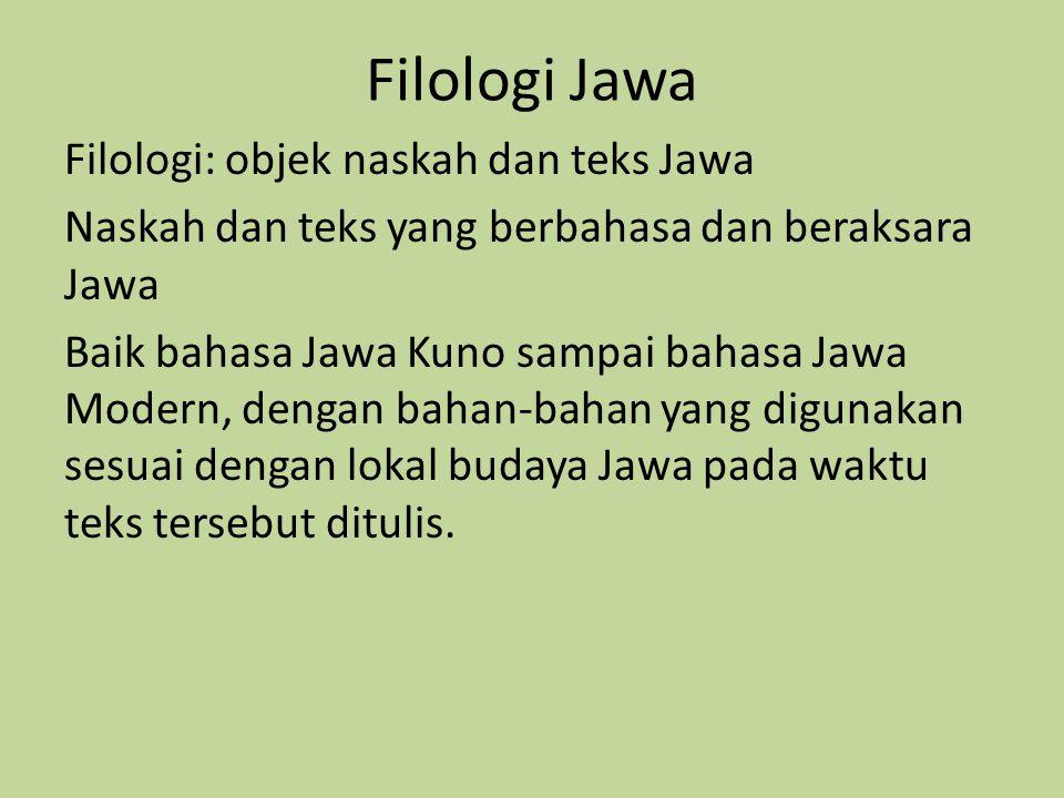 Filologi Jawa