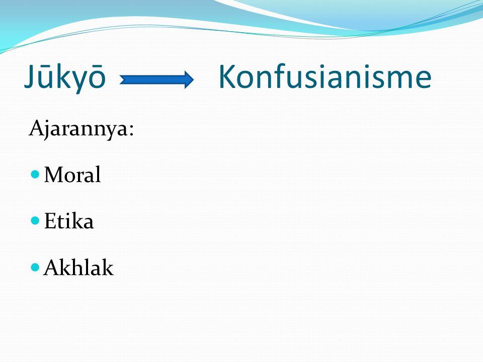 Jūkyō Konfusianisme Ajarannya: Moral Etika Akhlak