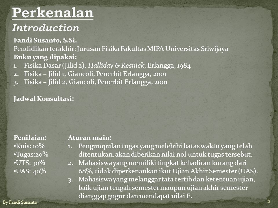 Perkenalan Introduction