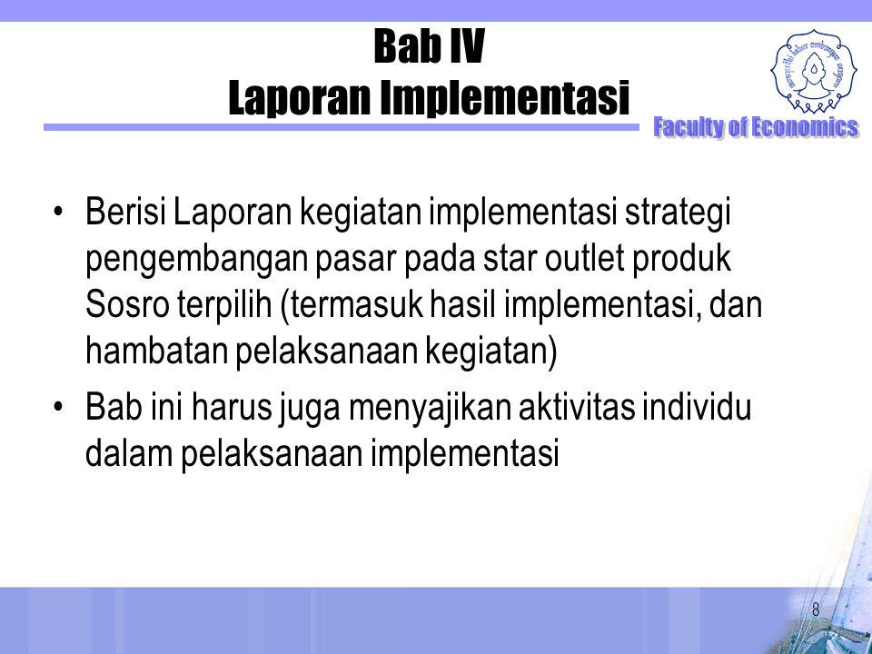 Bab IV Laporan Implementasi