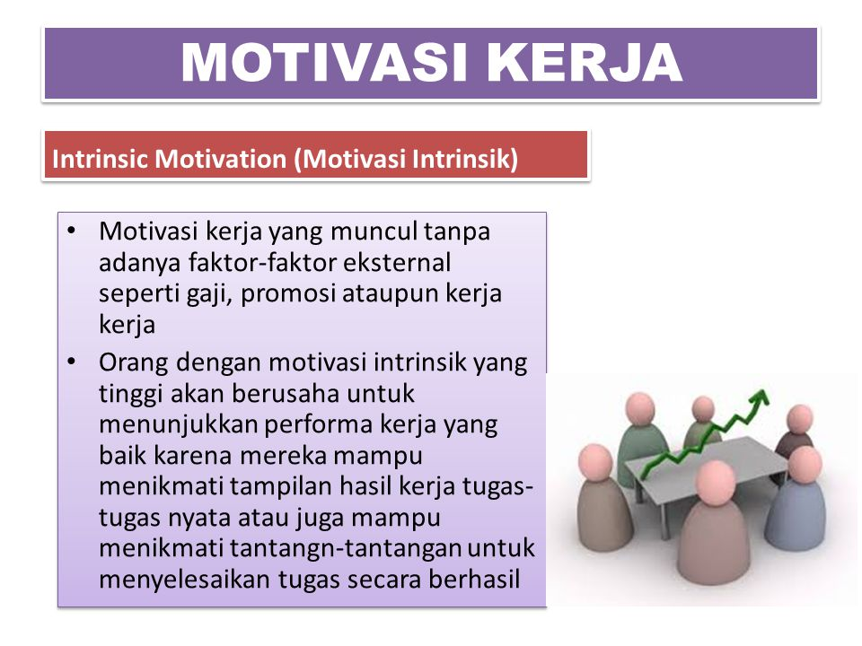 MOTIVASI KERJA Intrinsic Motivation (Motivasi Intrinsik)