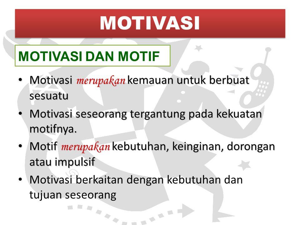 MOTIVASI MOTIVASI DAN MOTIF