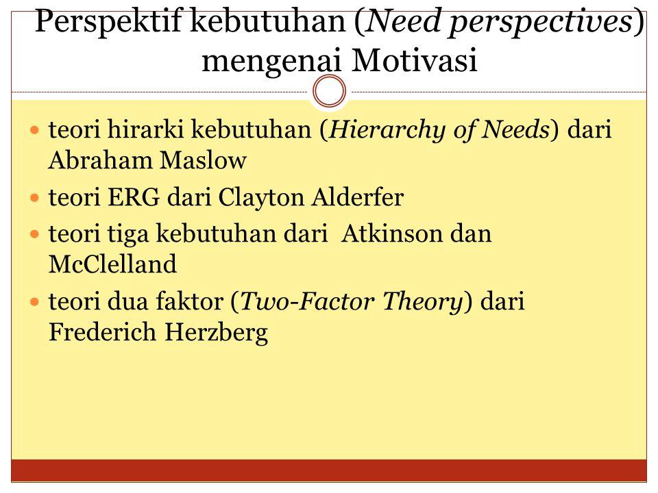 Perspektif kebutuhan (Need perspectives) mengenai Motivasi
