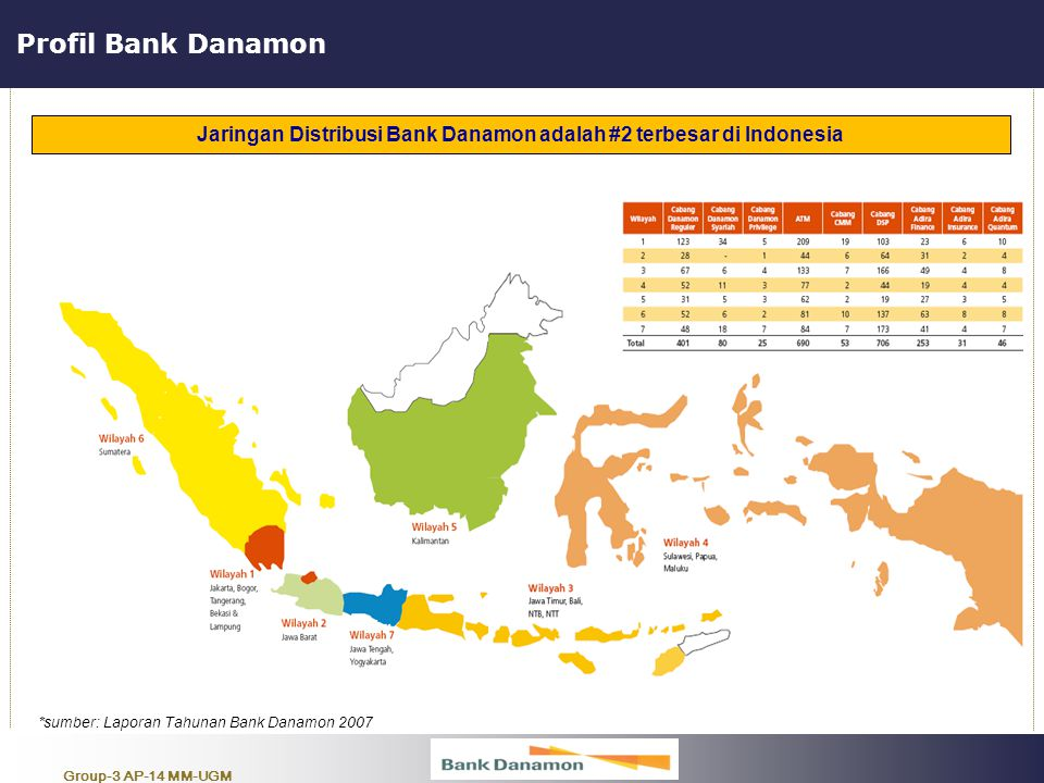 Jaringan Distribusi Bank Danamon adalah #2 terbesar di Indonesia