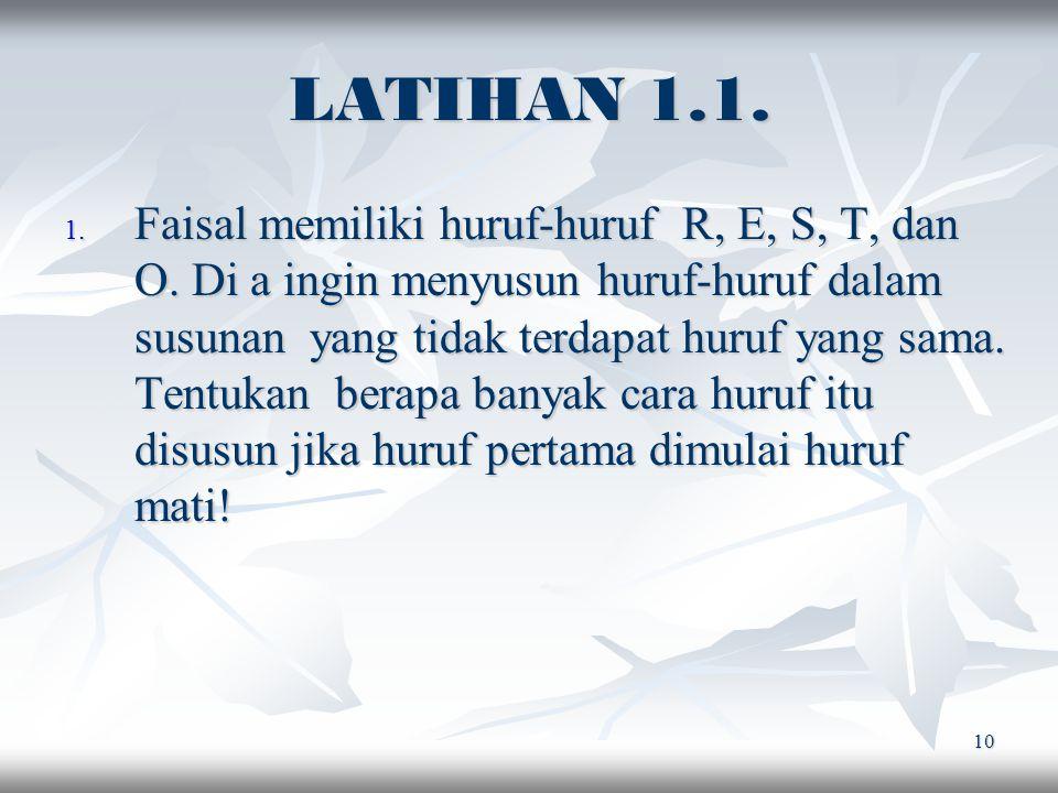 LATIHAN 1.1.