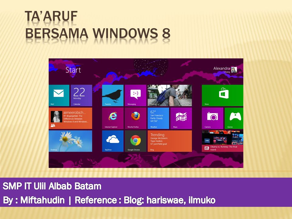 Ta'aruf Bersama Windows 8
