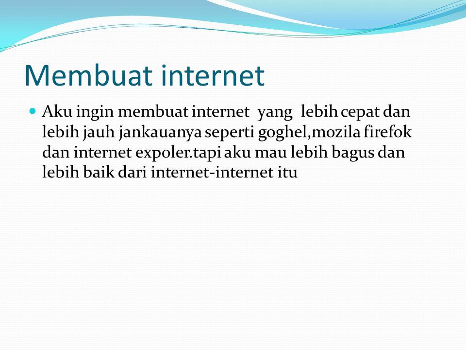 Membuat internet