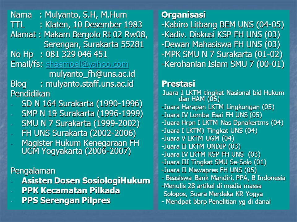 Alamat : Makam Bergolo Rt 02 Rw08, Serengan, Surakarta 55281