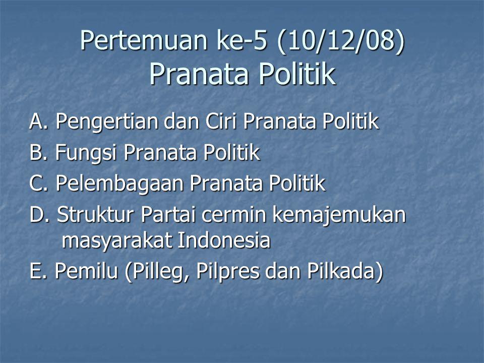 Pertemuan ke-5 (10/12/08) Pranata Politik