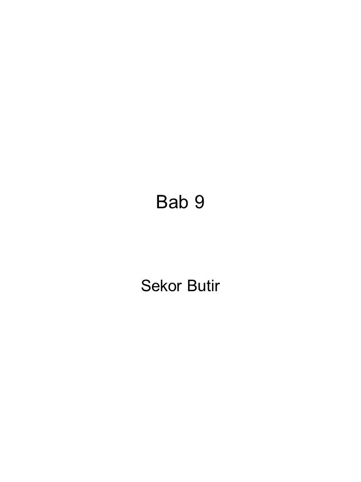 Bab 9 Sekor Butir
