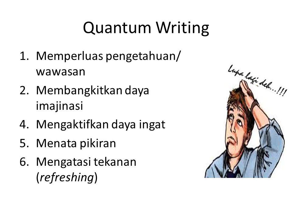 Quantum Writing Memperluas pengetahuan/ wawasan