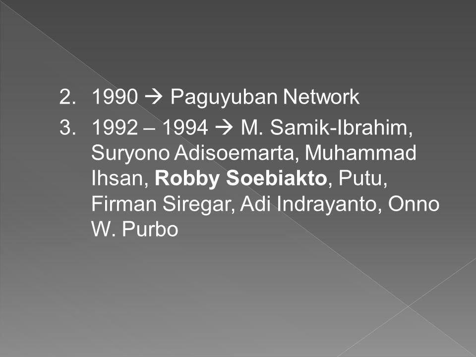 1990  Paguyuban Network