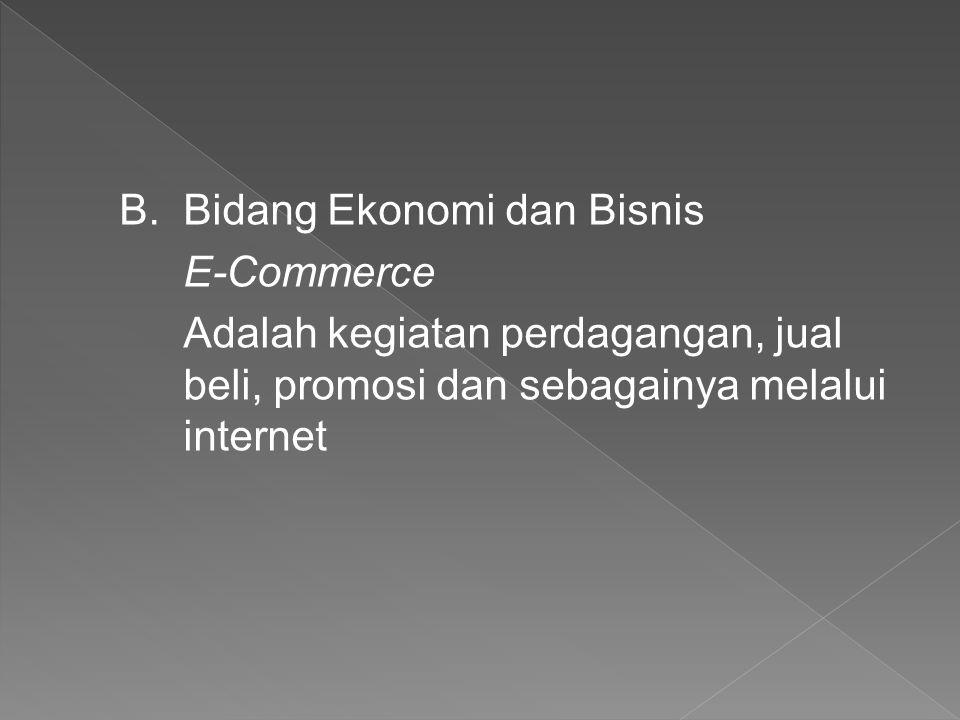 Bidang Ekonomi dan Bisnis