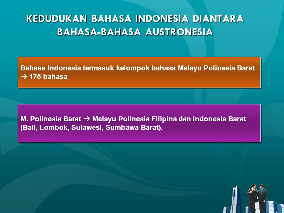 KEDUDUKAN BAHASA INDONESIA DIANTARA BAHASA-BAHASA AUSTRONESIA