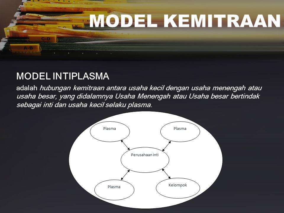 MODEL KEMITRAAN MODEL INTIPLASMA