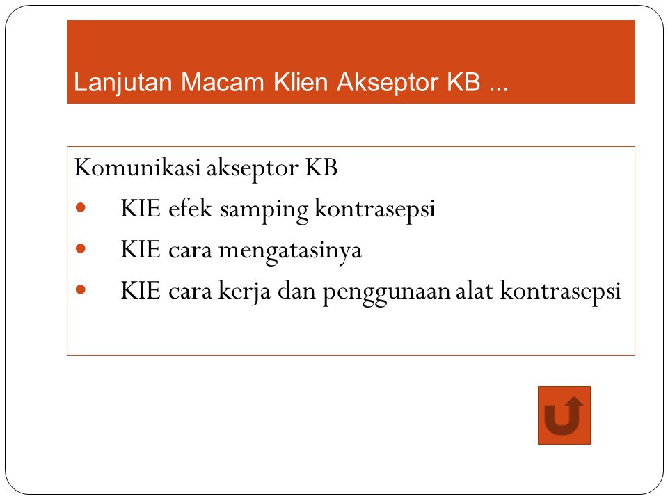 Lanjutan Macam Klien Akseptor KB ...
