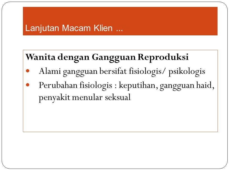 Wanita dengan Gangguan Reproduksi