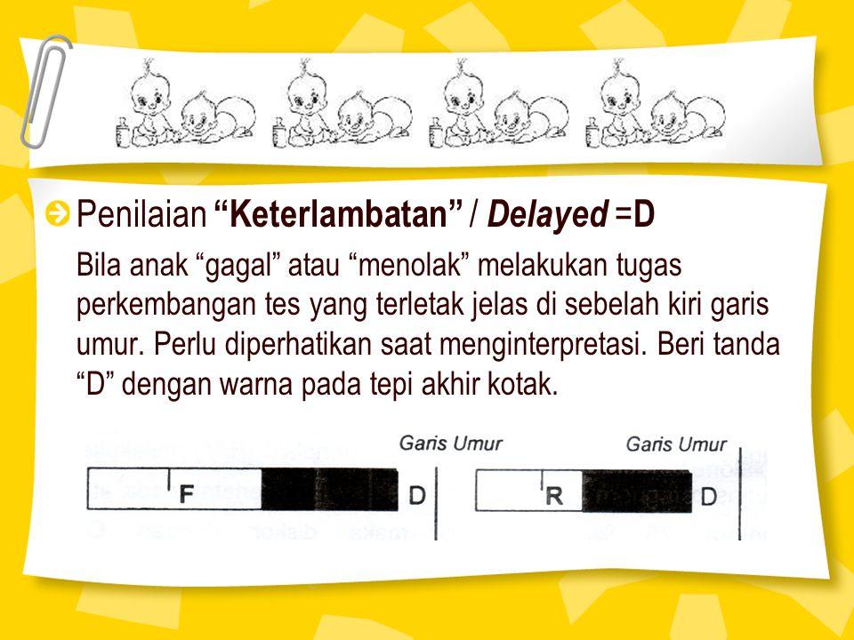 Penilaian Keterlambatan / Delayed =D