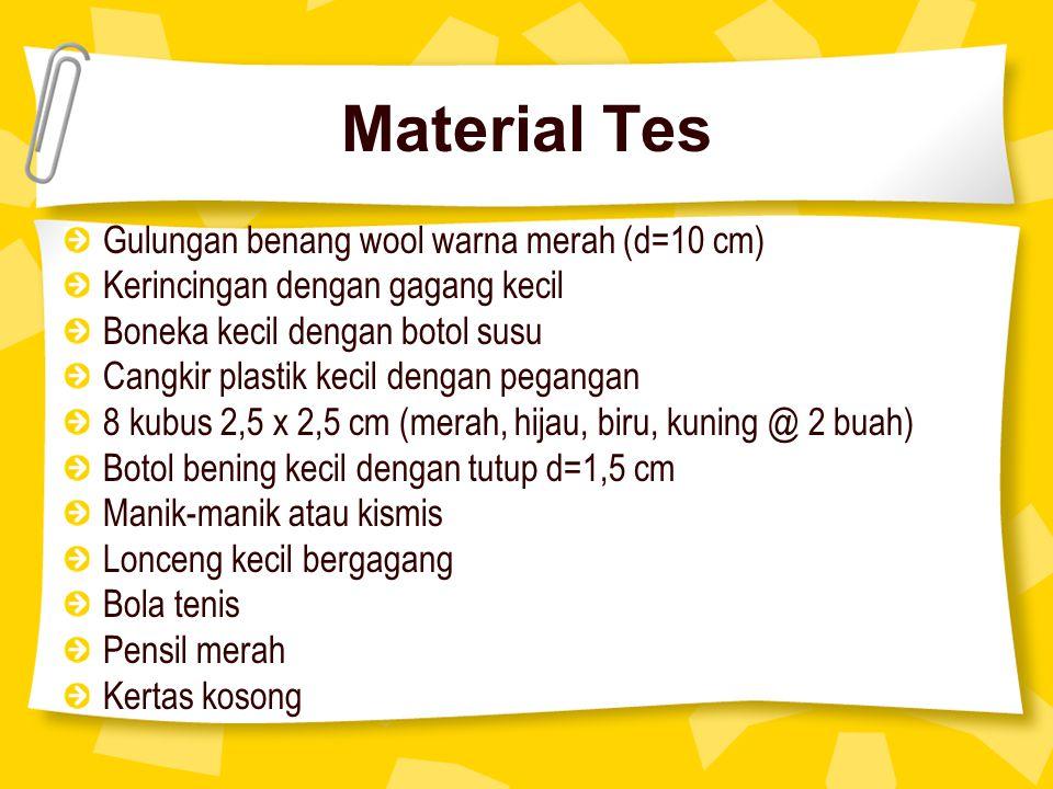 Material Tes Gulungan benang wool warna merah (d=10 cm)
