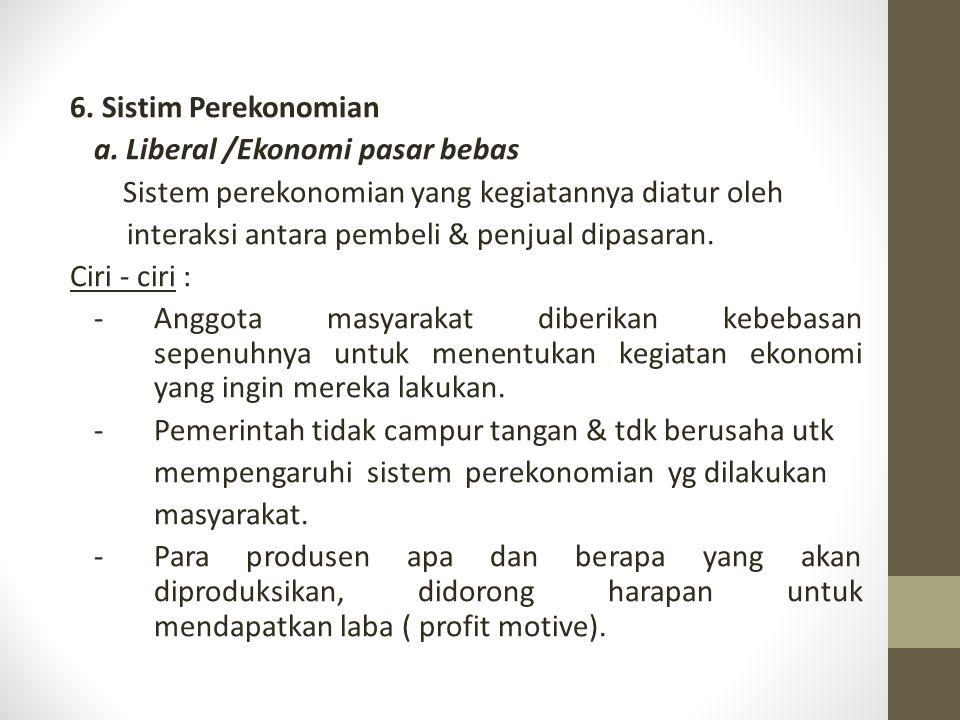 6. Sistim Perekonomian a.