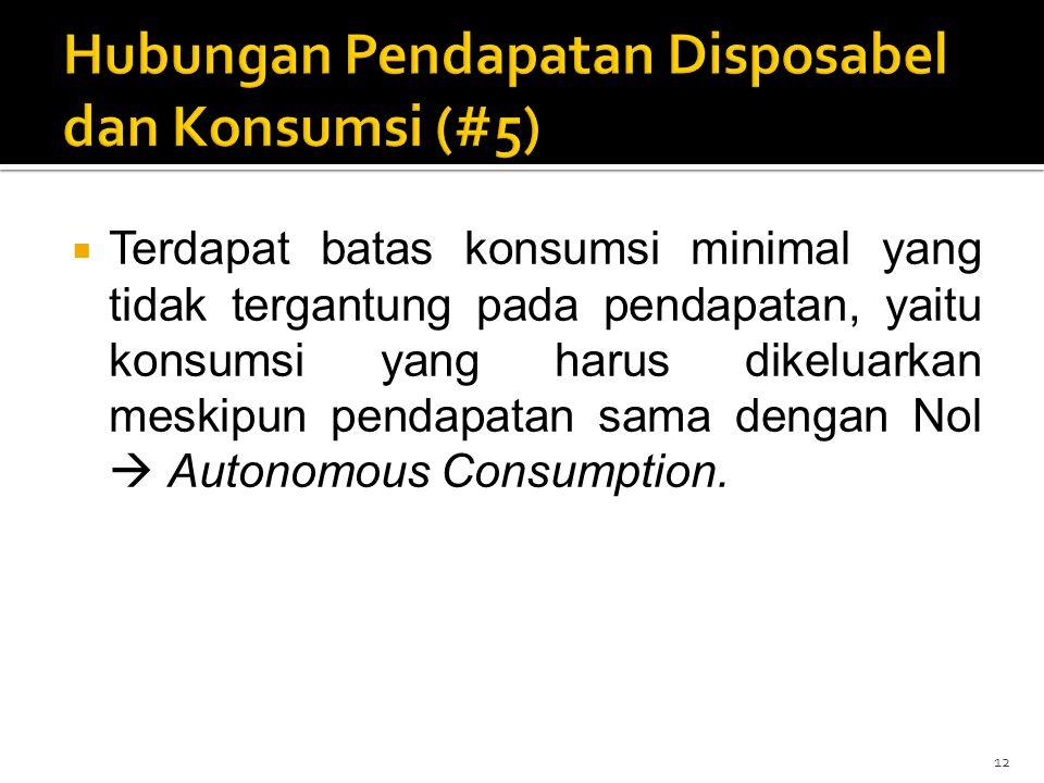 Hubungan Pendapatan Disposabel dan Konsumsi (#5)