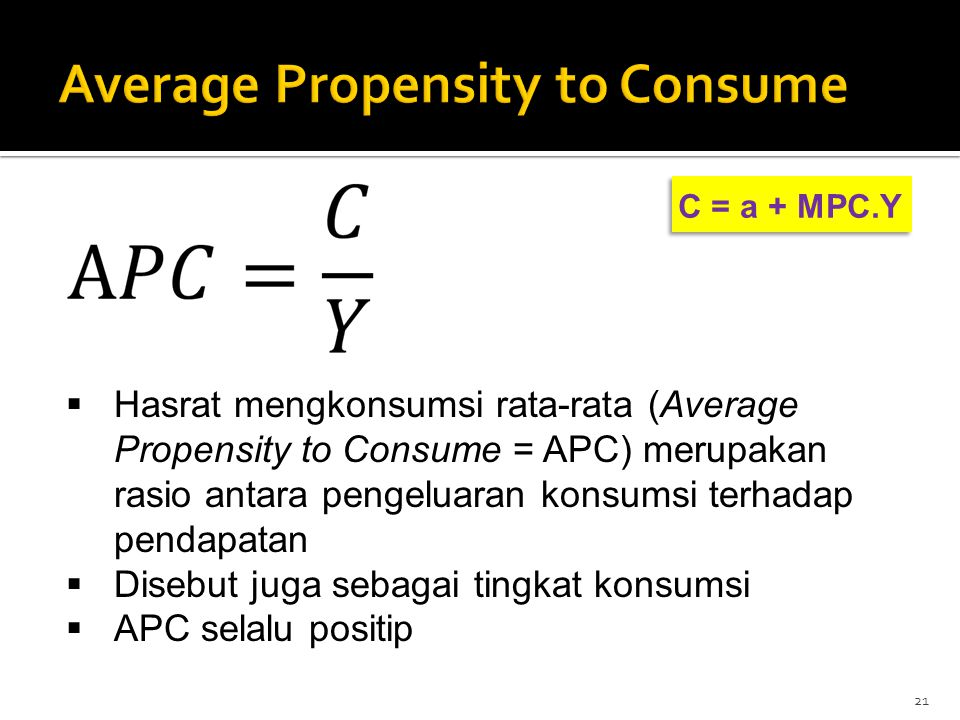 Average Propensity to Consume