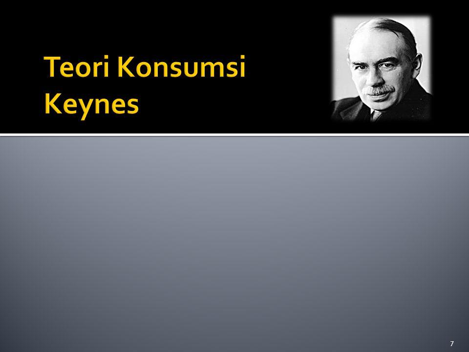 Teori Konsumsi Keynes