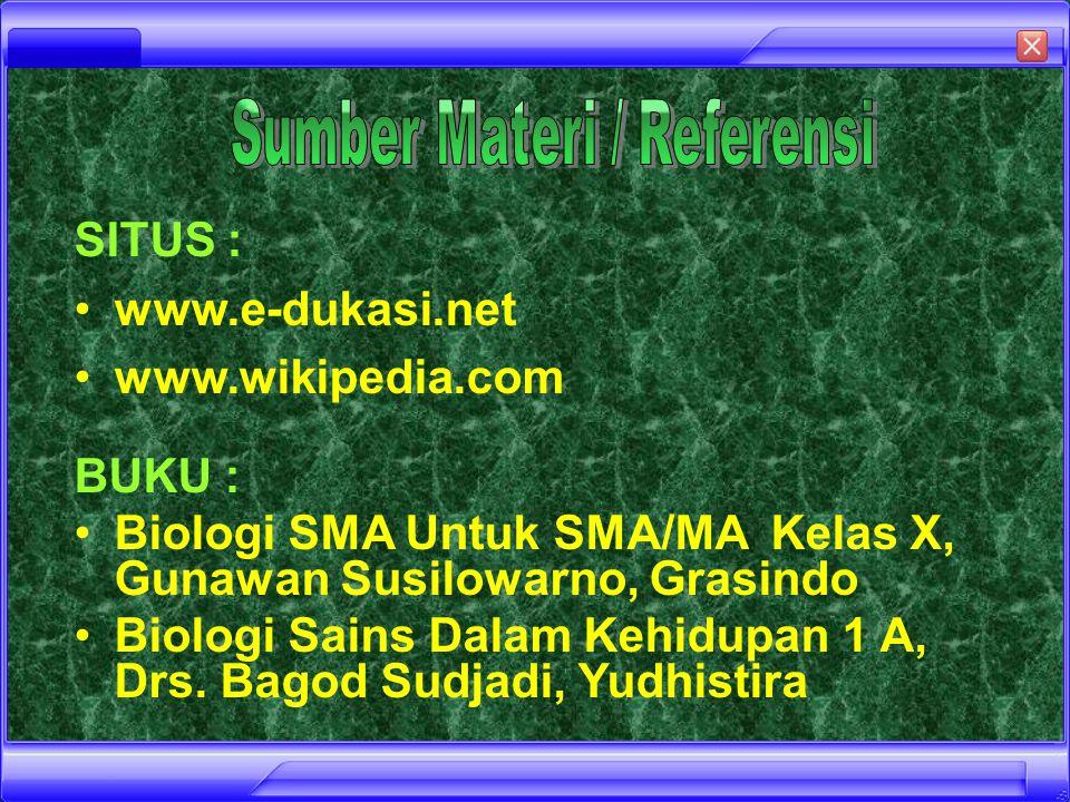 Sumber Materi / Referensi