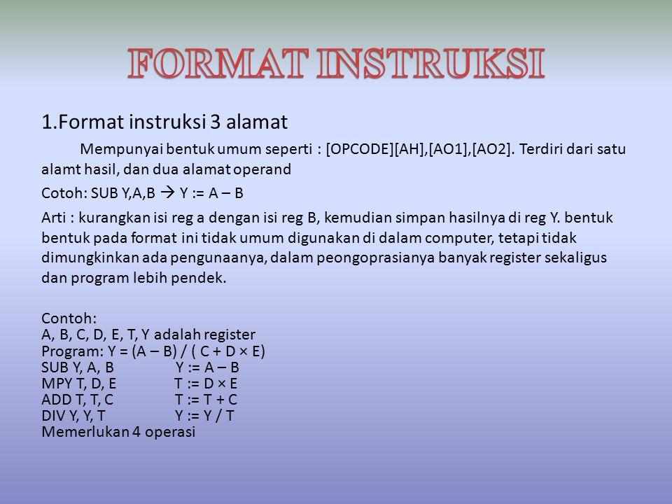 FORMAT INSTRUKSI 1.Format instruksi 3 alamat