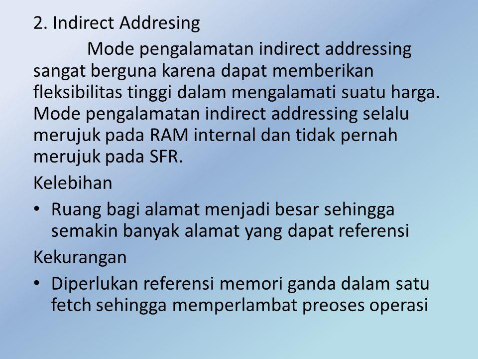 2. Indirect Addresing