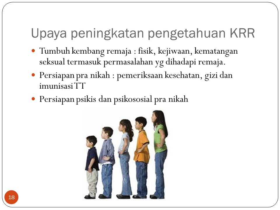 Upaya peningkatan pengetahuan KRR