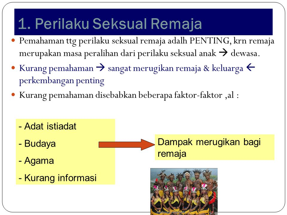 1. Perilaku Seksual Remaja