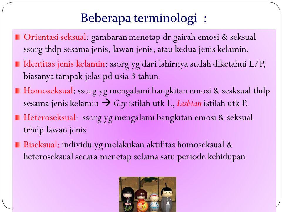 Beberapa terminologi :