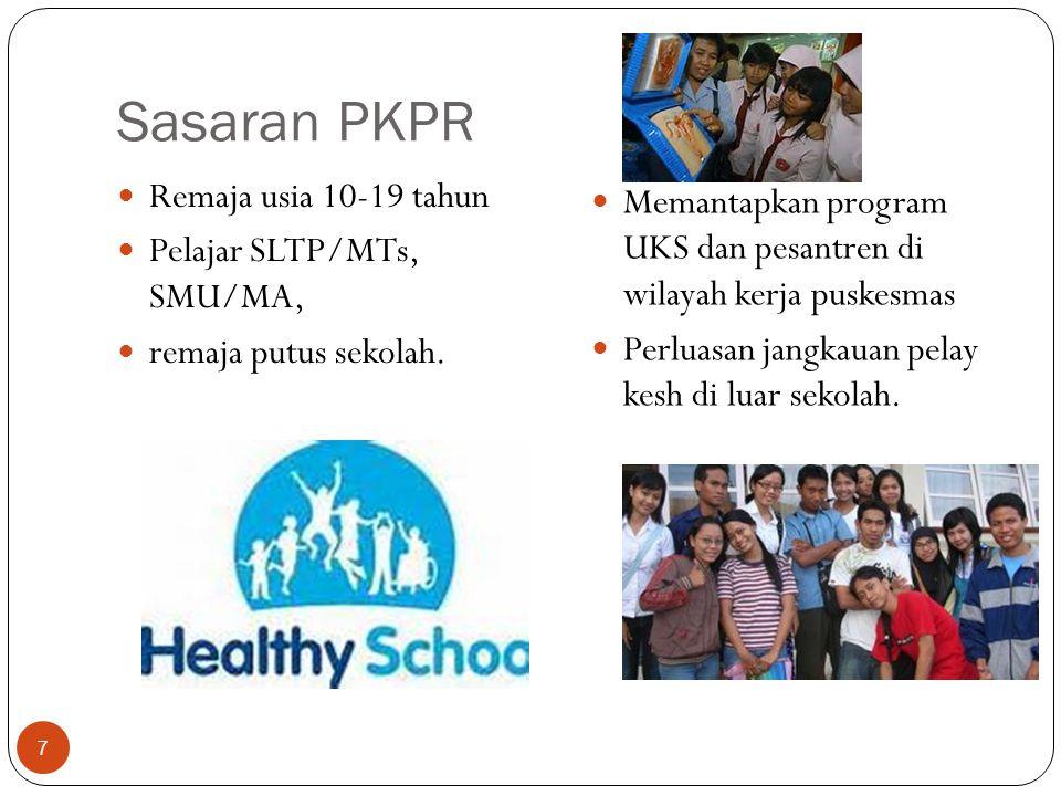 Sasaran PKPR Remaja usia 10-19 tahun