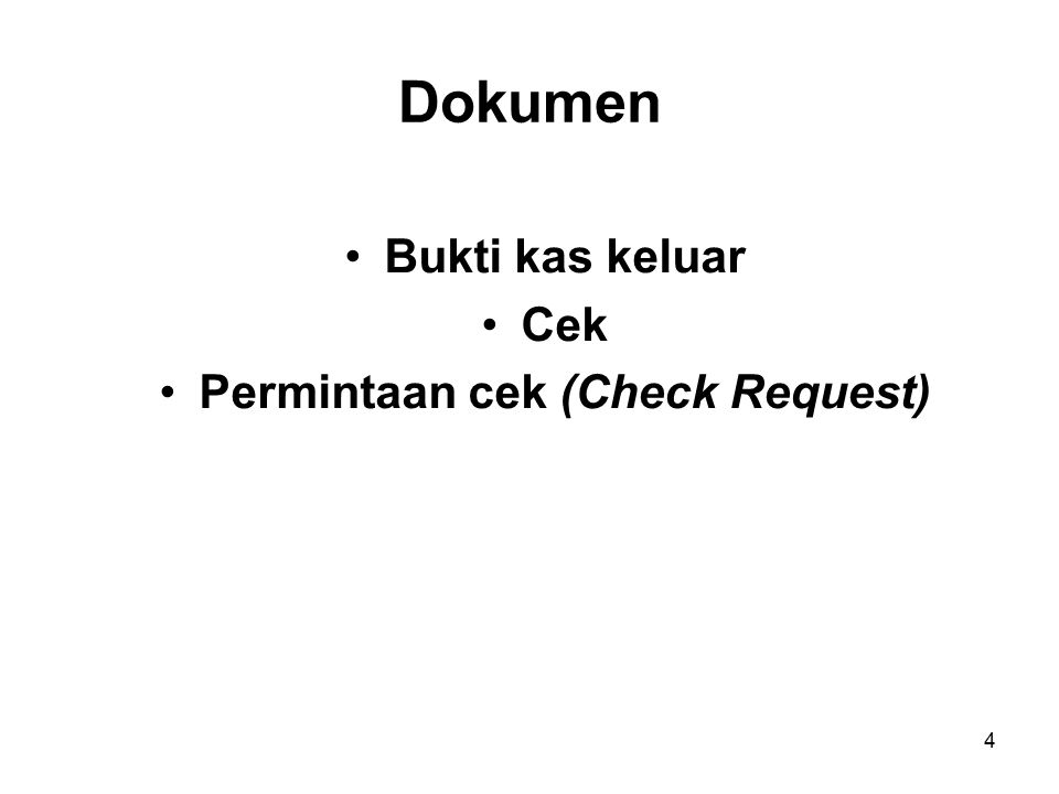 Permintaan cek (Check Request)