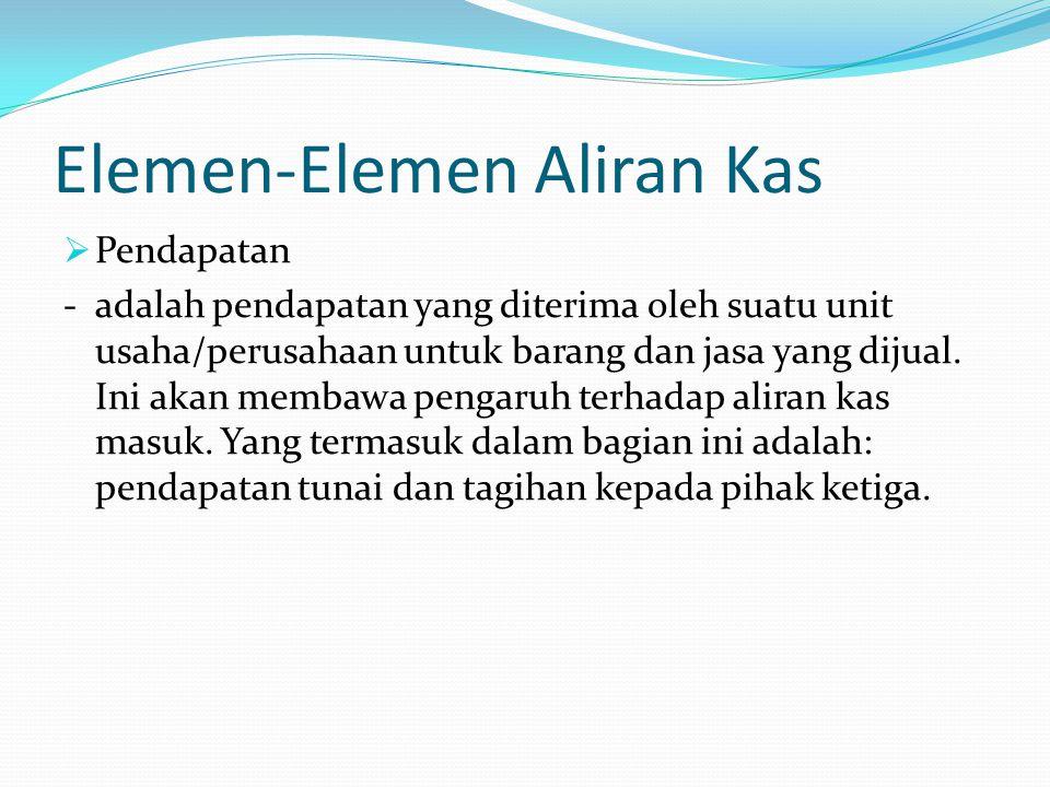 Elemen-Elemen Aliran Kas
