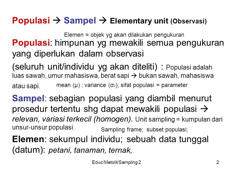 Educ/Metolit/Sampling 2
