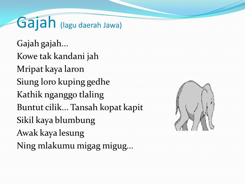 Gajah (lagu daerah Jawa)