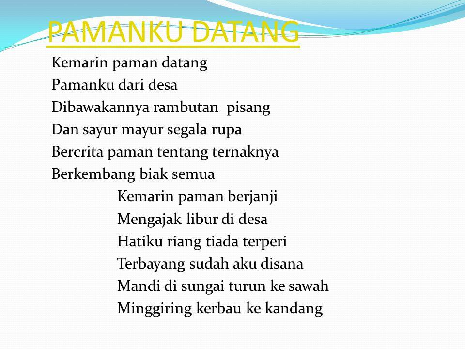 PAMANKU DATANG