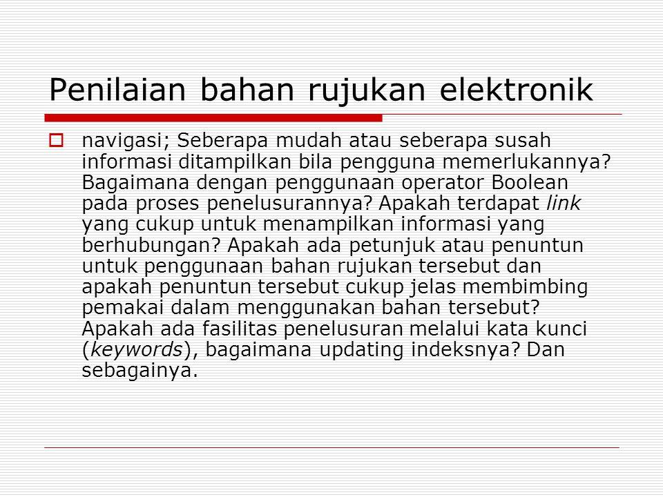 Penilaian bahan rujukan elektronik