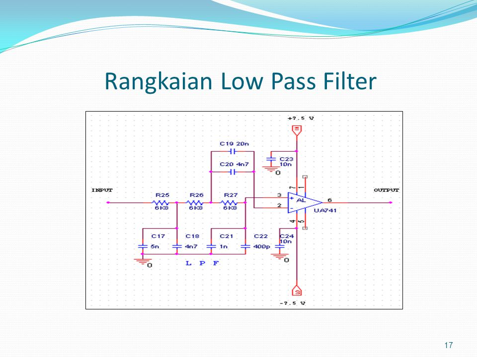 Rangkaian Low Pass Filter