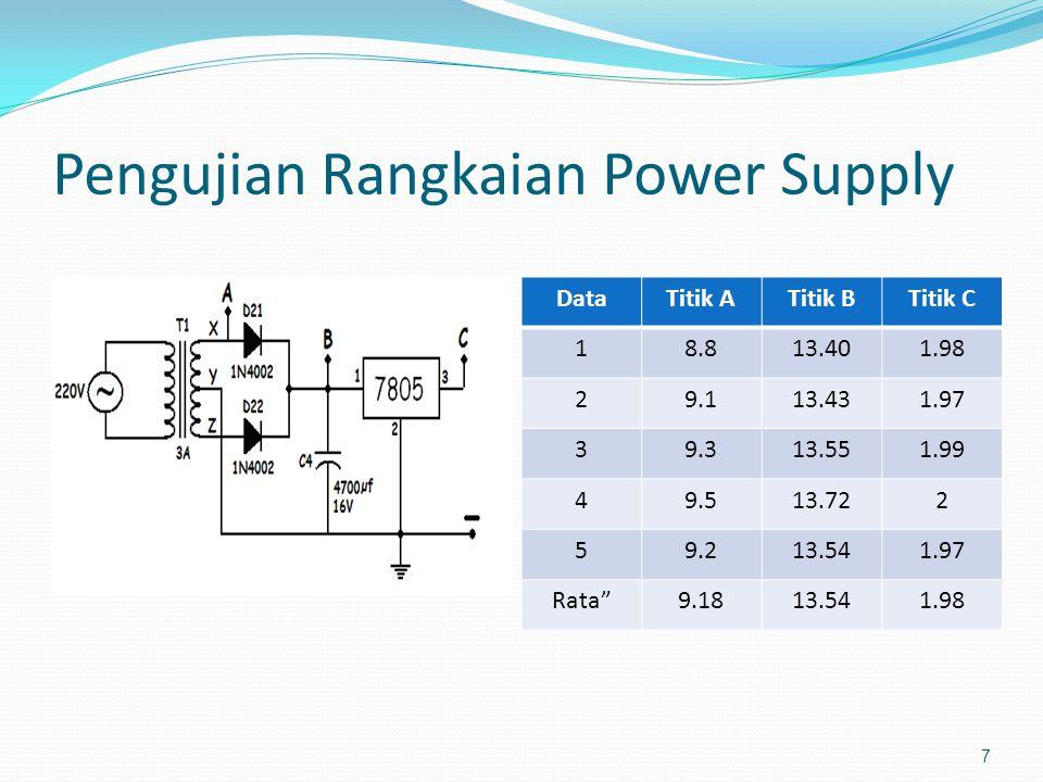 Pengujian Rangkaian Power Supply