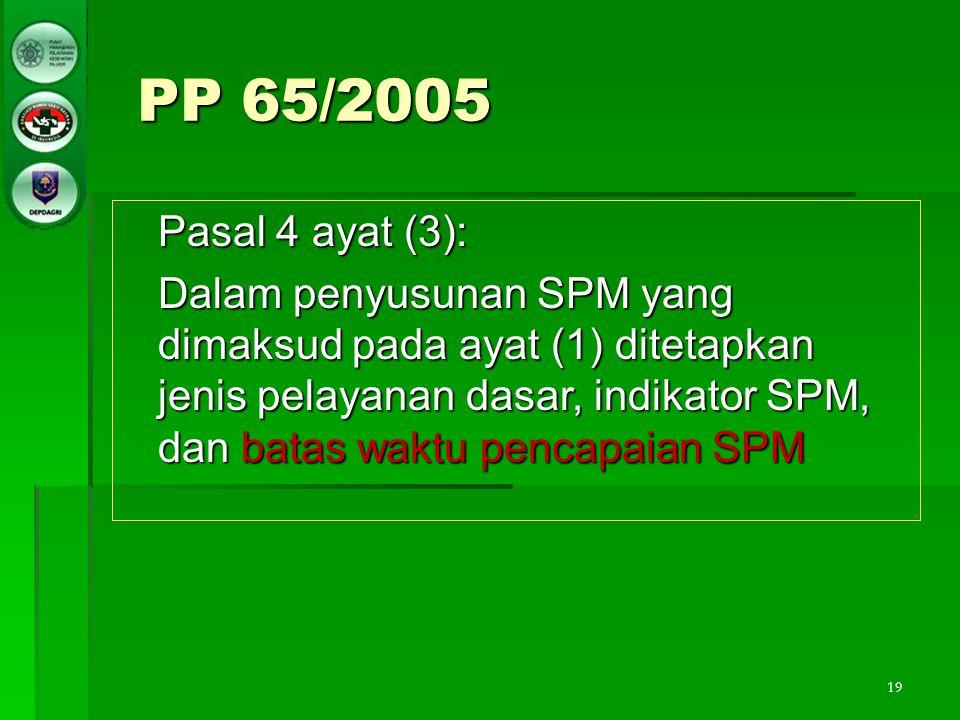 PP 65/2005 Pasal 4 ayat (3):