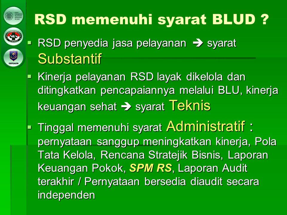 RSD memenuhi syarat BLUD