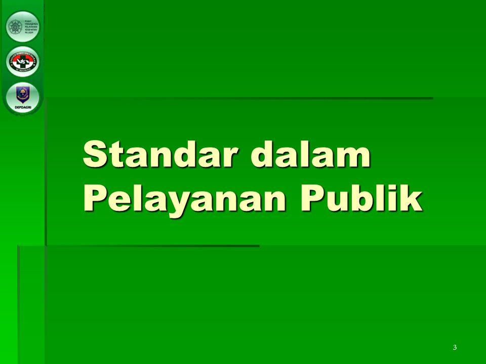 Standar dalam Pelayanan Publik