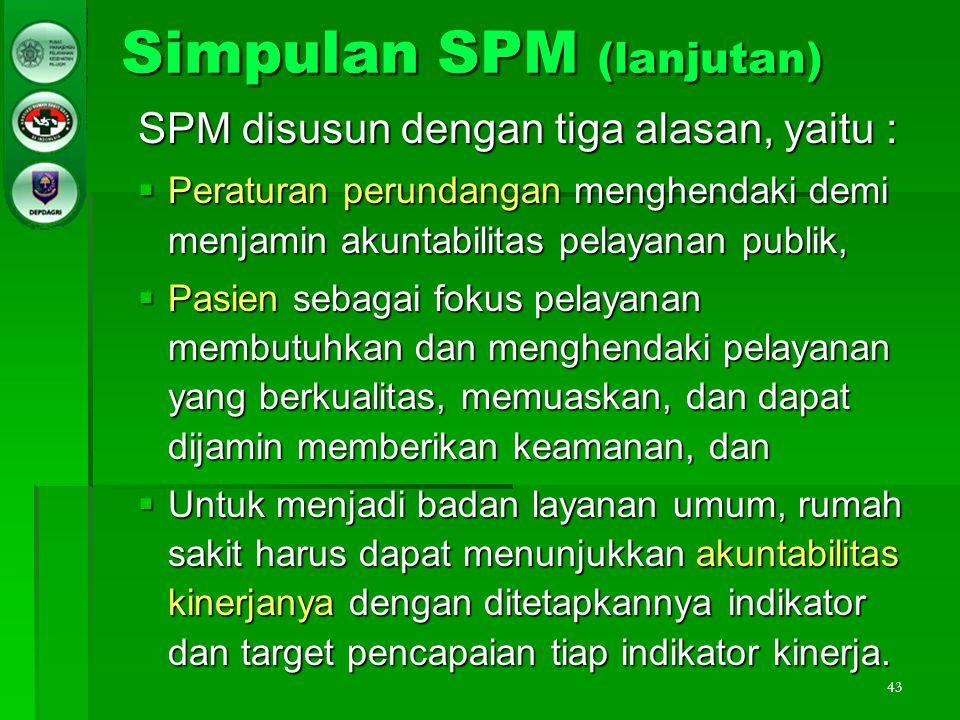 Simpulan SPM (lanjutan)