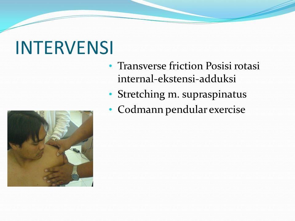 INTERVENSI Transverse friction Posisi rotasi internal-ekstensi-adduksi