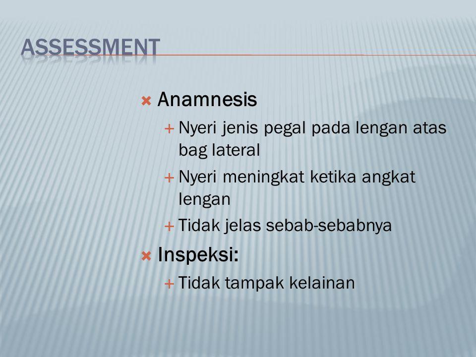 ASSESSMENT Anamnesis Inspeksi: